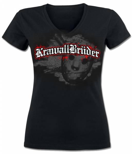 KrawallBrüder - Jason, V-Neck Girlie Shirt [schwarz]