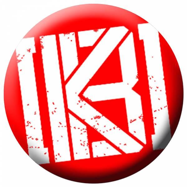 KrawallBrüder - Logo neu rot, Button