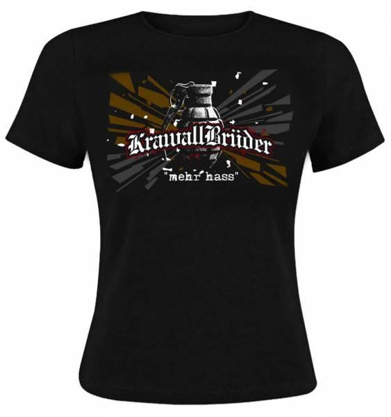 KrawallBrüder - Mehr Hass, Girl-Shirt [schwarz]