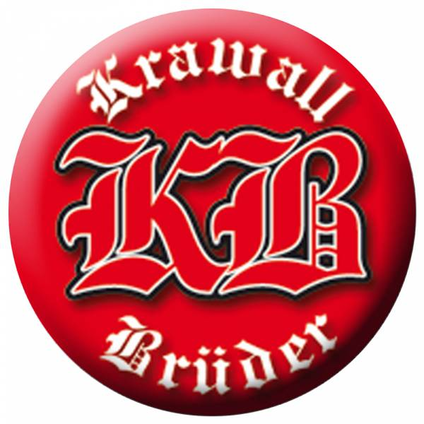 KrawallBrüder - Logo Rot, Button