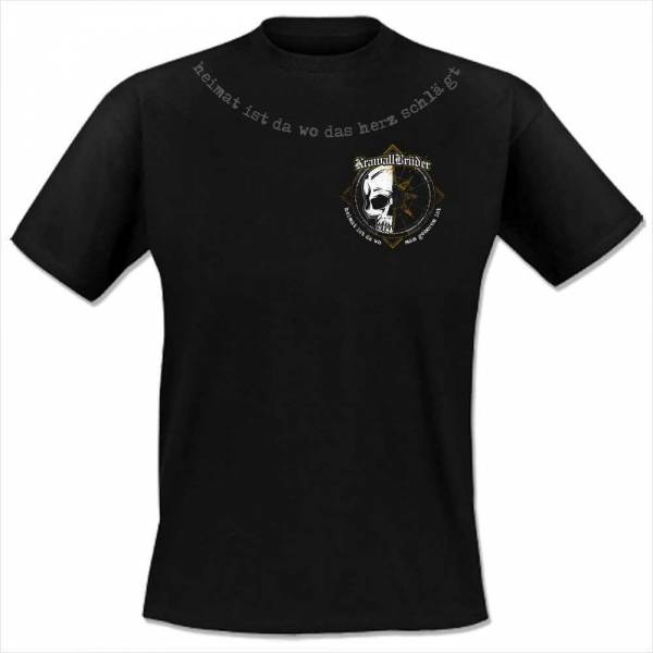 KrawallBrüder - Wo das Herz schlägt, T-Shirt [schwarz]