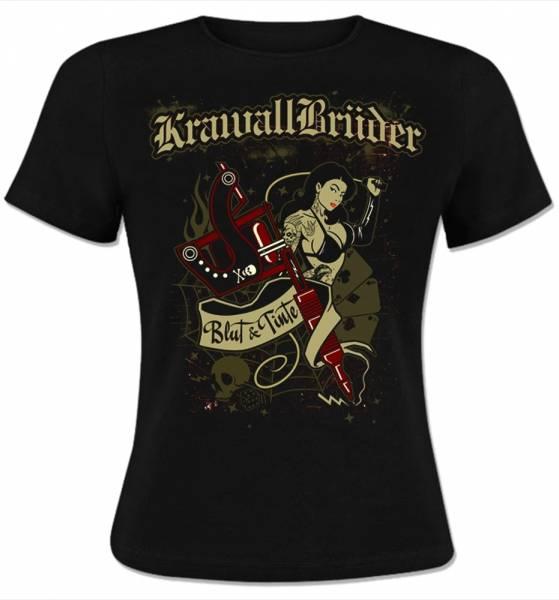 KrawallBrüder - Blut & Tinte, Girl-Shirt [schwarz]