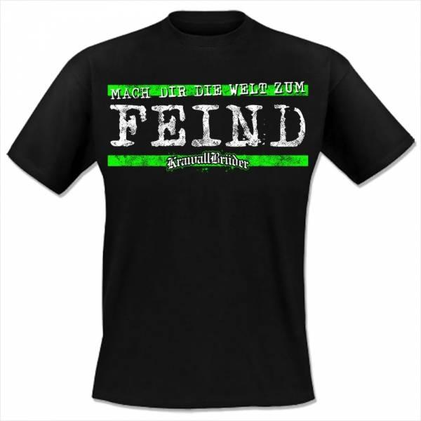 KrawallBrüder - Die Welt zum Feind, T-Shirt [schwarz]