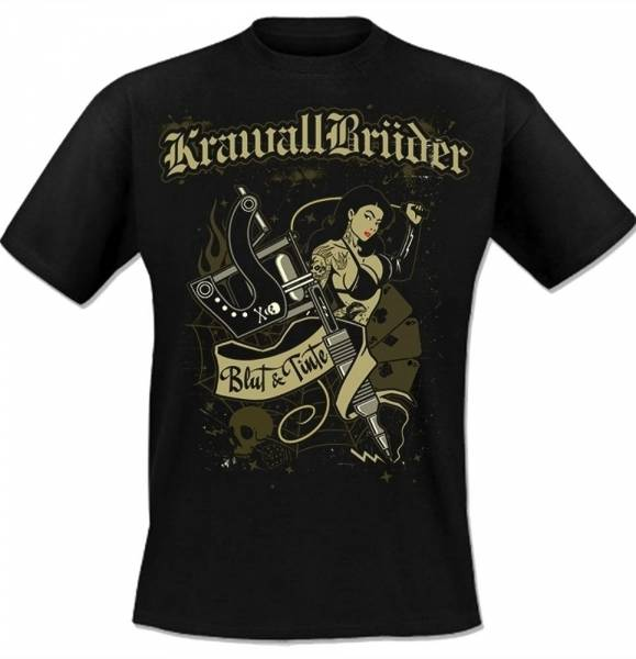 KrawallBrüder - Blut & Tinte, T-Shirt [schwarz]