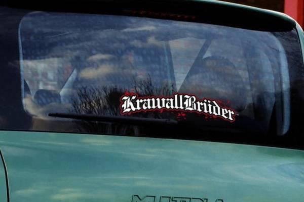 KrawallBrüder - Logo I Heckscheibenaufkleber klein I außen