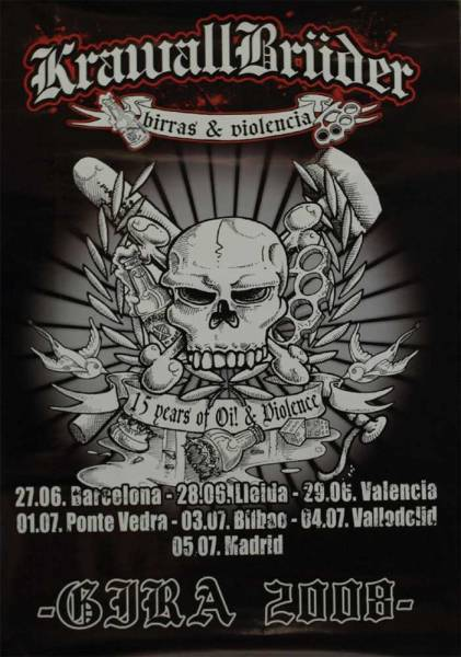 KrawallBrüder - Spanien Tour 2008, Poster
