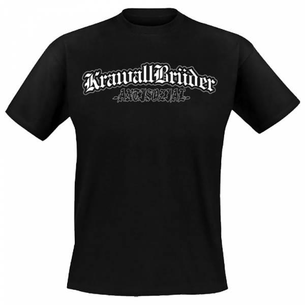 KrawallBrüder - Antisozial, T-Shirt [schwarz]