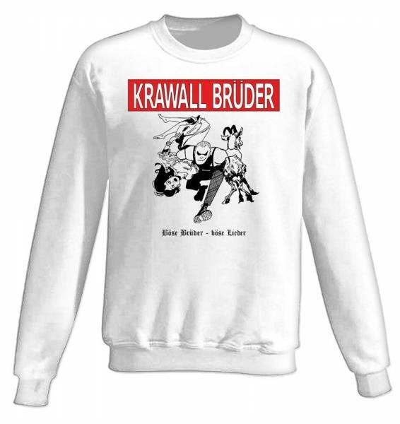 KrawallBrüder - Böse Brüder, Sweatshirt [weiß]