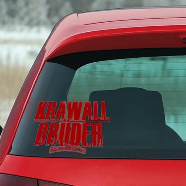 KrawallBrüder - AMS Heckscheibenaufkleber klein [rot]
