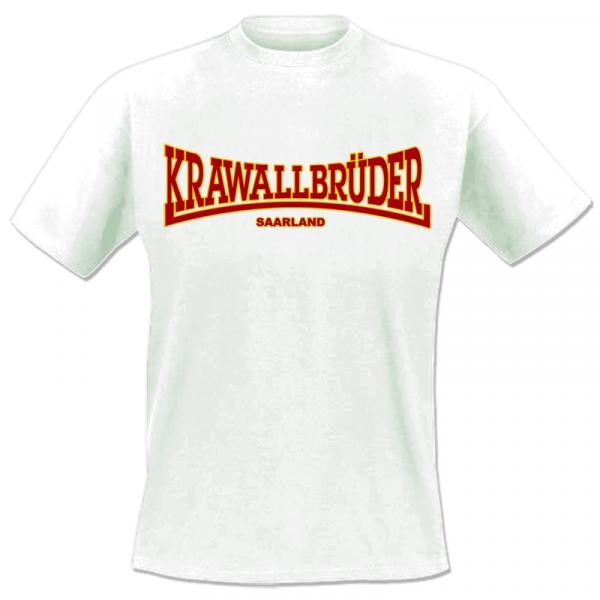 KrawallBrüder - Saarland, T-Shirt [weiß]