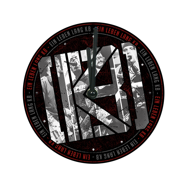 KrawallBrüder - Ein Leben lang, Glaswanduhr [schwarz]