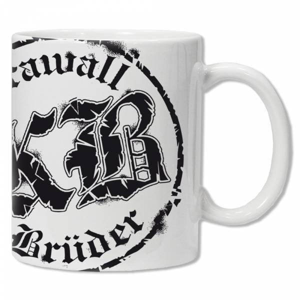 KrawallBrüder - Logo rund, Tasse [weiß]