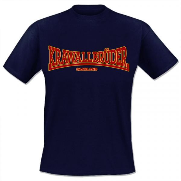 KrawallBrüder - Saarland, T-Shirt [blau]