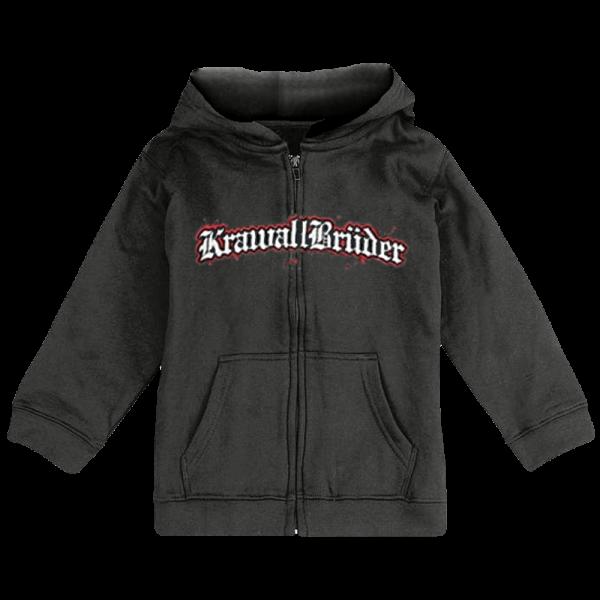 KrawallBrüder - Logo, Baby Kapuzenjacke [dunkelgrau]