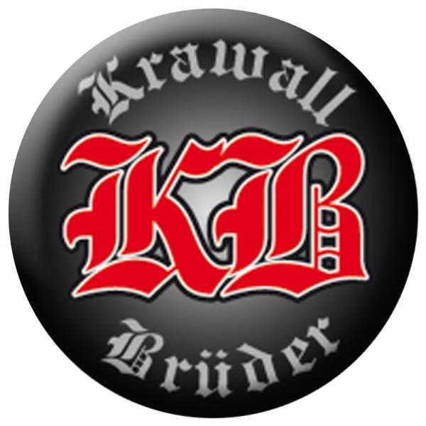 KrawallBrüder - Logo schwarz, Button