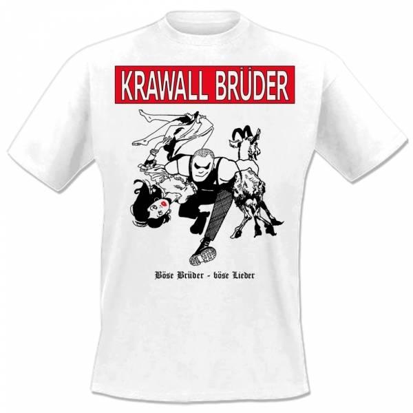 KrawallBrüder - Böse Brüder, T-Shirt [weiß]