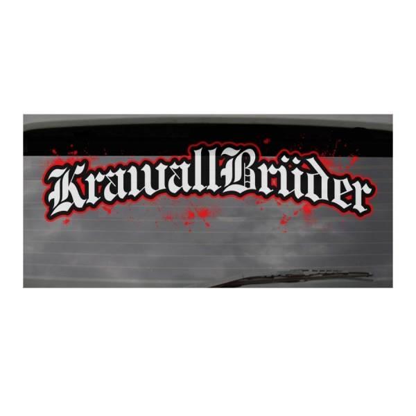 KrawallBrüder - Logo I Heckscheibenaufkleber groß I außen
