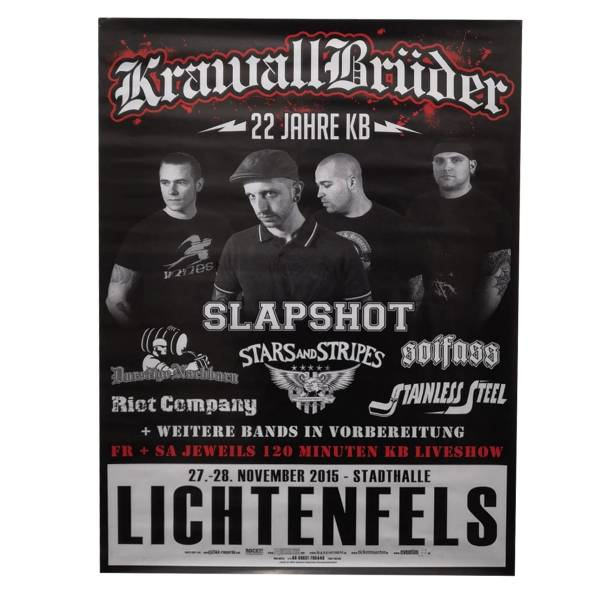 KrawallBrüder - 22 Jahre Event, Poster