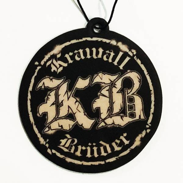 KrawallBrüder - Logo rund / Vanille, Lufterfrischer / Duft-Aufhänger