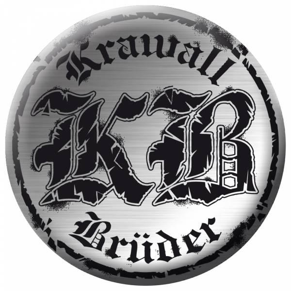 KrawallBrüder - Logo Chrom, Button