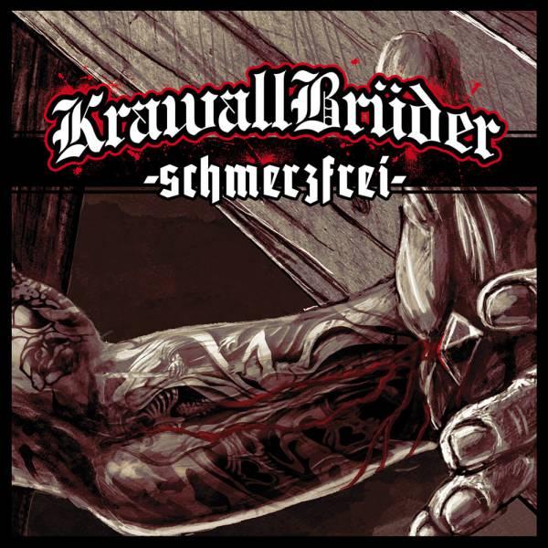KrawallBrüder - schmerzfrei, LP lim. 222 (grün mit sw/w splatter)