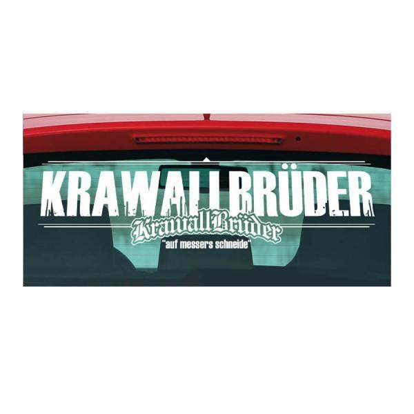 KrawallBrüder - Auf Messers Schneide Heckscheibenaufkleber aussen
