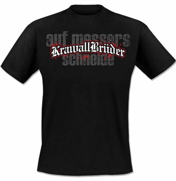KrawallBrüder - Auf Messers Schneide, T-Shirt [schwarz]