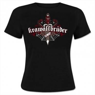KrawallBrüder - Oldschool, Girl-Shirt [schwarz]