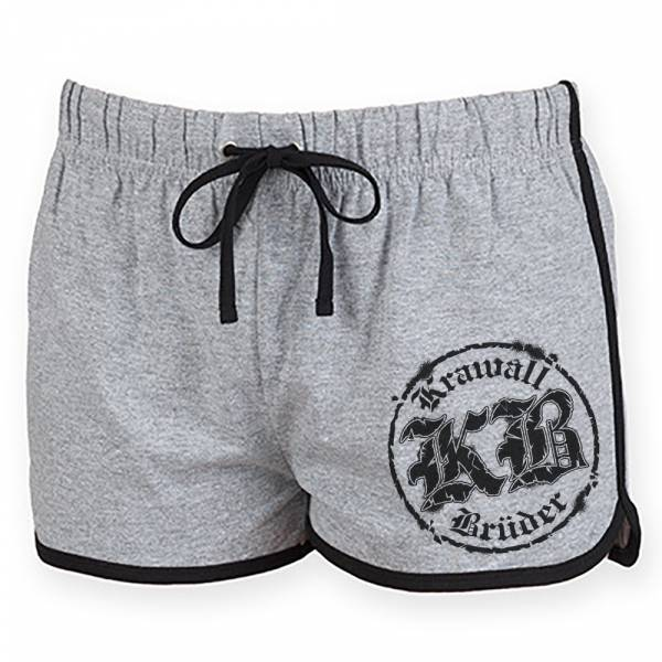 KrawallBrüder - Logo, Hotpants [grau]