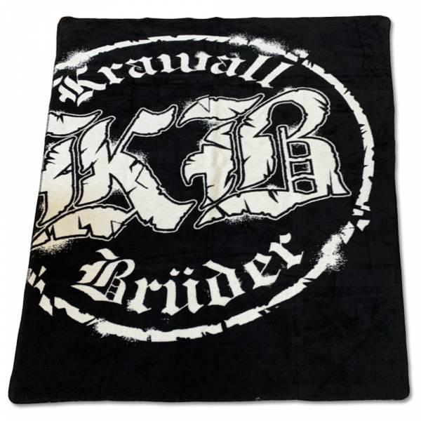 KrawallBrüder - Logo schwarz, Decke [sehr schwere Qualität]