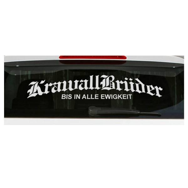 KrawallBrüder - BIAE, Heckscheibenaufkleber