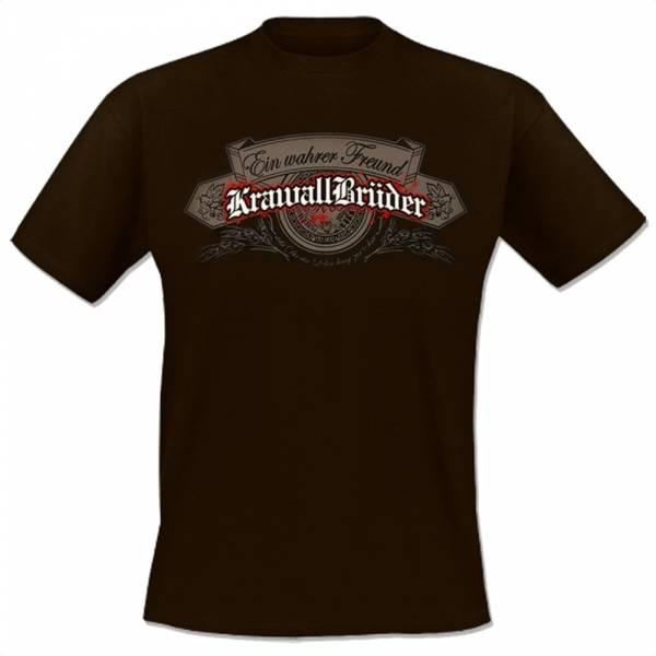 KrawallBrüder - Ein wahrer Freund, T-Shirt [braun]
