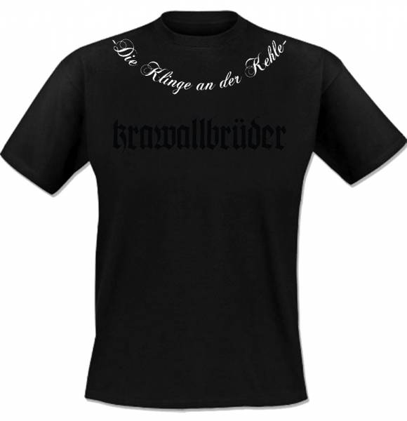 KrawallBrüder - Klinge an der Kehle, T-Shirt [schwarz]