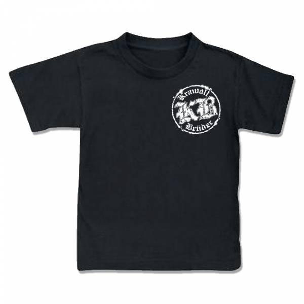 KrawallBrüder - Logo, Kinder T-Shirt [schwarz]