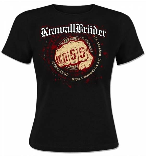 KrawallBrüder - Unbeugsam, Girl Shirt [schwarz]