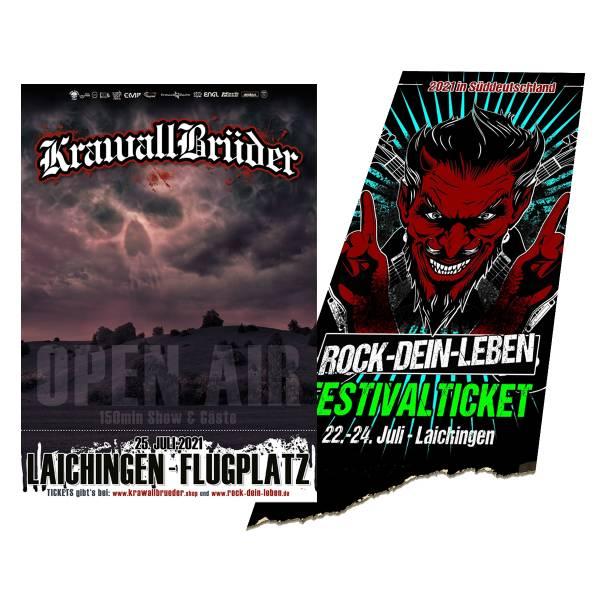 TicketBundle: Krawallbrüder Open Air 2021 + ROCK-DEIN-LEBEN 2021 - Festival Ticket