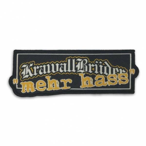 KrawallBrüder - Logo mehr Hass, Aufnäher