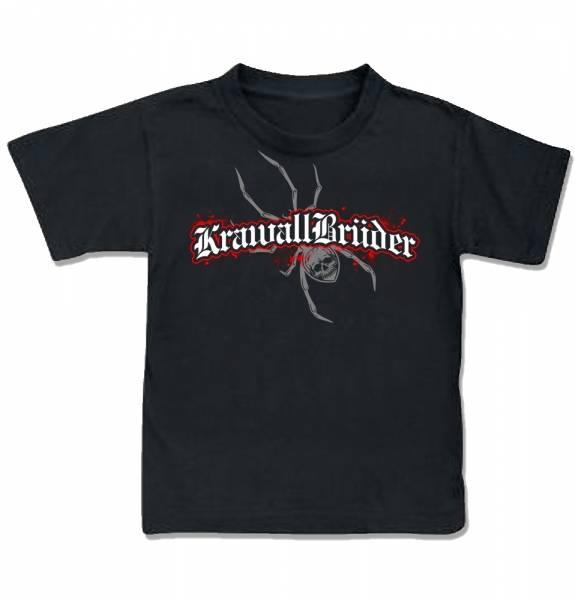 KrawallBrüder - Skullspider, Kinder T-Shirt [schwarz]