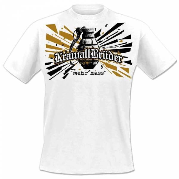 KrawallBrüder - Mehr Hass, T-Shirt [weiß]