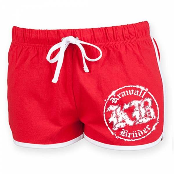KrawallBrüder - Logo, Hotpants [rot]